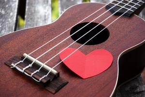 Ukulele Liebe Herz