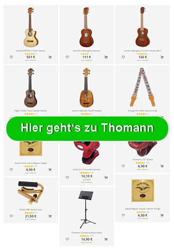 Ukulele Equipment bei Thomann